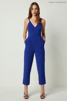 French Connection Blue Anana Whisper Strappy Jumpsuit