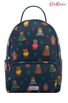 Cath Kidston Blue Pocket Woodland Bear Backpack