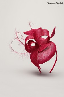 Phase Eight Red Meradith Fascinator