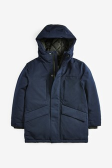 Navy Waterproof Bluff Pocket Jacket (3-16yrs)