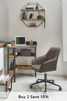 Dark Grey Hamilton Arm Office Chair