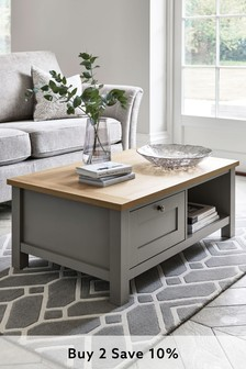 Dove Malvern Storage Coffee Table