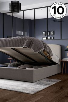 Simple Contemporary Silver Matson Ottoman Storage Bed