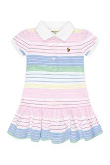 فستان قطن ألوان متعددة للبنات البيبي