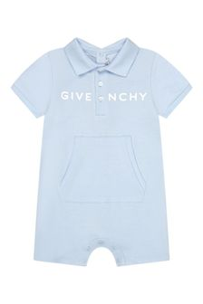 Givenchy Kids Baby Boys Blue Cotton Romper
