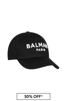Boys Black Cotton Cap