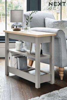 Dove Grey Malvern Storage Sofa Side Table