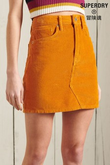 Superdry Orange Cord Mini Skirt