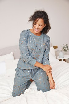 Blue Star Cosy Pyjamas In Gift Bag