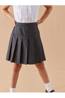 Grey 2 Pack Pleat Skirts (3-16yrs)