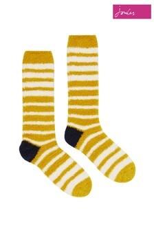 Joules Gold Fabulous Fluffy Socks