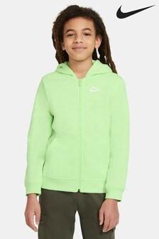 Nike Club Lime Full Zip Hoody