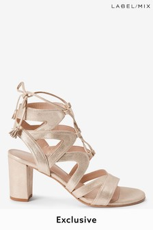 Next/Mix Lace-Up Heeled Sandals
