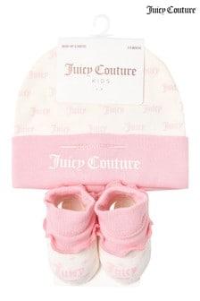 Juicy Couture Print Hat & Bootie Set