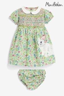 Boden Multi Nostalgic Smocked Woven Dress