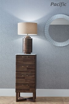 Zuri Large Antique Brass Metal Pot Table Lamp by Pacific Lifestyle