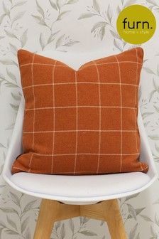Furn Orange Ellis Woven Cushion
