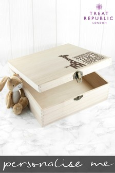 Personalised Giraffe Keepsake Box Gift Set by Treat Republic