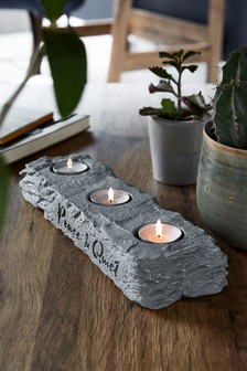 Slate Effect Tealight Holder