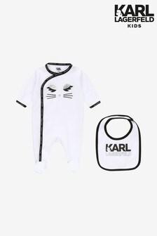 Karl Lagerfeld Kids White Sleepsuit