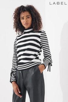 Label Collection Volume Sleeve Stripe Jumper