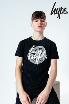 Hype. Kids Black Wave Script T-Shirt