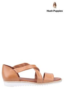 Hush Puppies Brown Gemma Espadrille Wedge Sandals