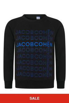 Boys Black Multi Logo Sweater