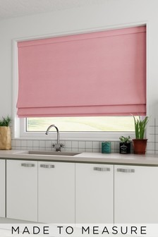 Cotton Rose Pink Made To Measure Roman Blind