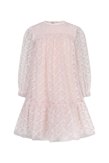 Baby Girls Pink Tulle Embroidered Dress