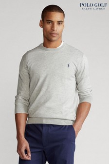 Polo Golf by Ralph Lauren Cotton Logo Long Sleeve Knit Top