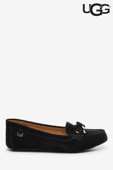 UGG® Black Suede Eevon Loafers