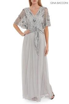 Gina Bacconi Rachel Beaded Maxi Dress