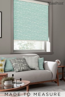 Saplings Pale Aqua Green Made To Measure Roller Blind by MissPrint