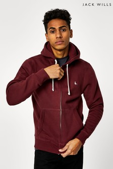 Jack Wills Damson Pinebrook Zip Through Hoody