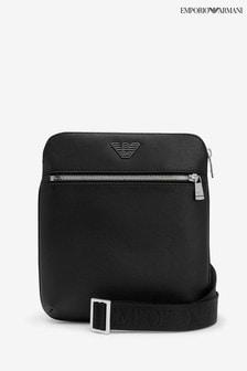 Emporio Armani Black Flat Logo Bag