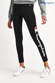 Champion 7/8 Leggings with Vertical Large Script Logo