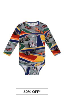Baby Boys Multi-Coloured Organic Cotton Full Speed Bodysuit