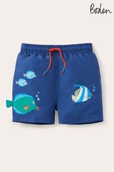 Boden Blue Fun Swim Shorts