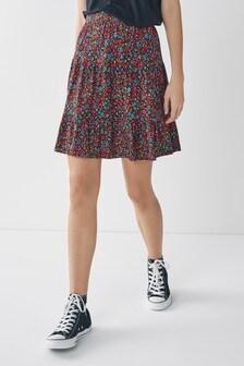 Multi Floral Flippy Skirt