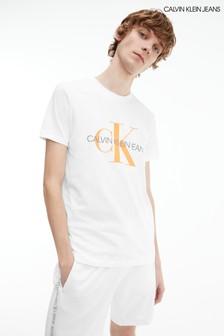 Calvin Klein Jeans White Seasonal Monogram T-Shirt