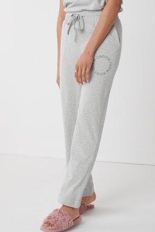 Grey Working From Home Wide Leg Trousers