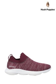 Hush Puppies Red Free BounceMAX Slip-On Trainers