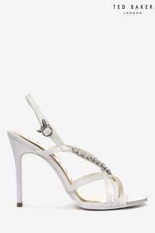Ted Baker White Crystal Heel Sandals