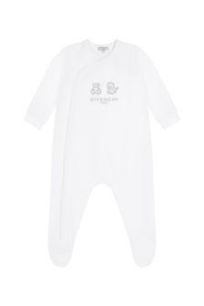 Givenchy Kids Baby White Cotton Babygrow