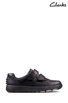 Clarks Black Rex Pace K Shoes