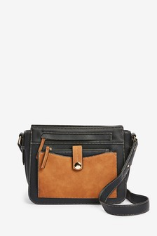 Black Pocket Utility Across Body Bag