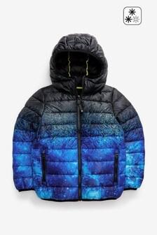 Cobalt Space Print Padded Jacket (3-16yrs)