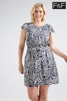 F&F Navy Animal Print Dress