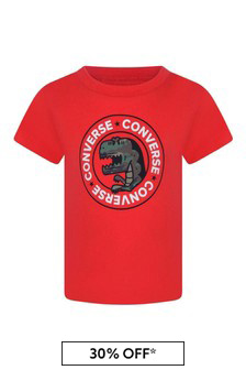 Baby Boys Red Cotton Jersey T-Shirt